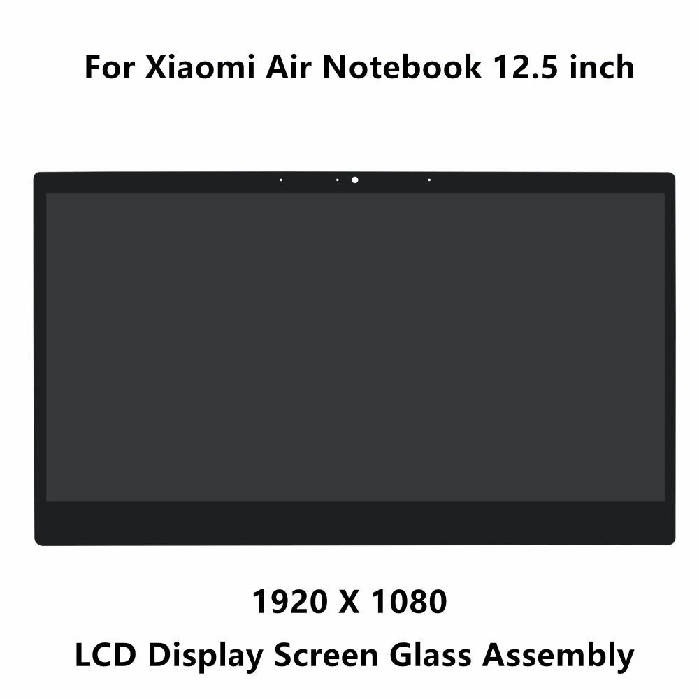 12.5 inch For Xiaomi Air Notebook LCD LED Screen Display Matrix Glass Assembly 1920 x 1080 Resolution NV125FHM-N82 30 pins IPS