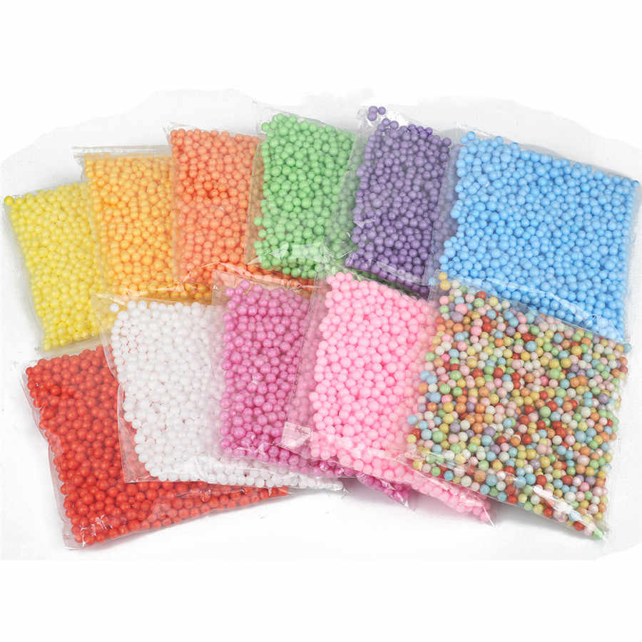 8000pcs 2-4mm Foam Particles Beads Slime Decorative Filled Beads 900pc 5-10mm Beads For Diy Jewelry Making Hand Made Accessories