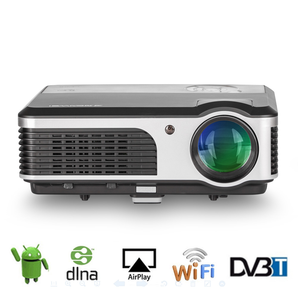 2018 New Home Projectors Theater Lcd 1080p Hd Multimedia: CAIWEI LCD Home Cinema Theater Projector DVBT2 Android