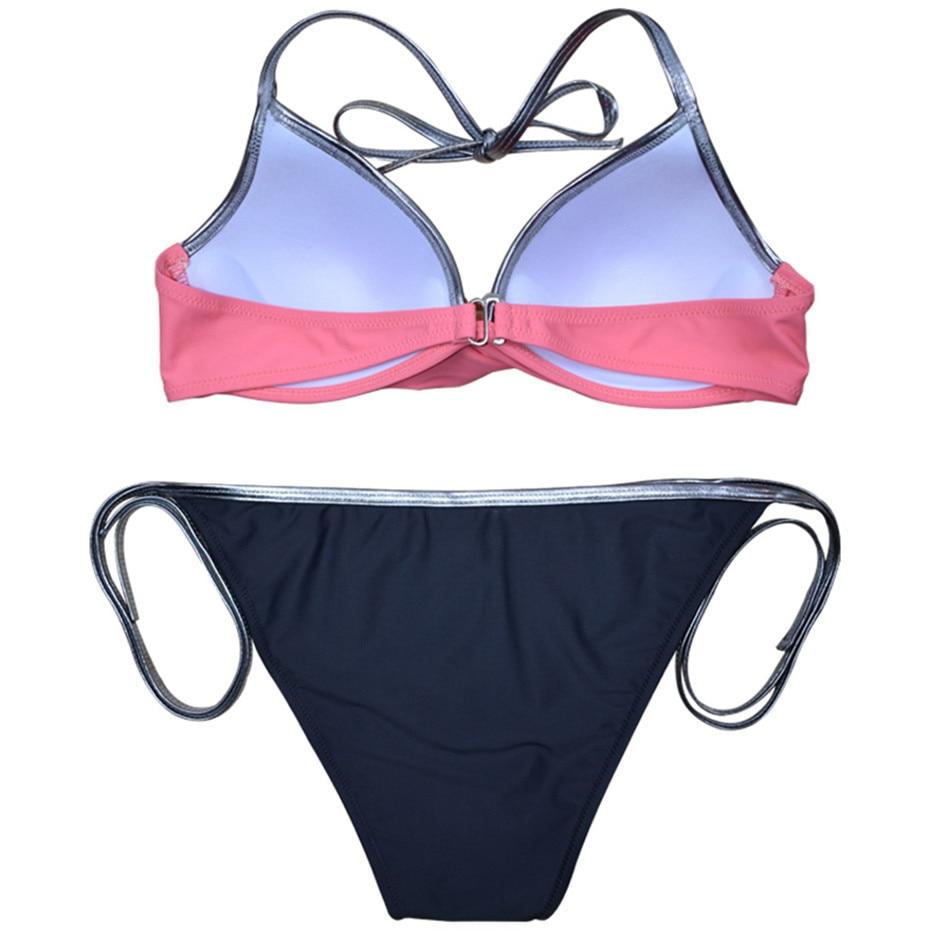 HTB1y13tMNjaK1RjSZFAq6zdLFXa5 Push Up Bikini 2019 Bathing Suit Brazilian Swimsuit Sexy Bikini Solid Swimwear Girl Beachwear Women Swim Wear Female Biquini XXL