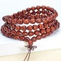 Blood drop beads sandalwood bracelets lobular red sandalwood prayer beads bracelet jewelry apple style 0209