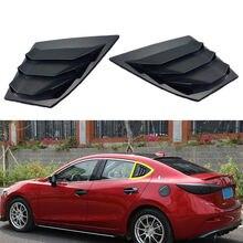 BBQ@FUKA New Car Accessories Black Rear Window Side Louvers Vent Panel Trim For Mazda 3 Axela 4Dr Sedan 2014 2015 2016 2017 2018