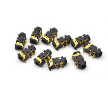 10pcs/lot Female Audio Connector 5 Pin SMT SMD Headphone Jack Socket PJ-327A Gold-Plated Patch SMD Audio Earphones Socket 3.5mm(China)