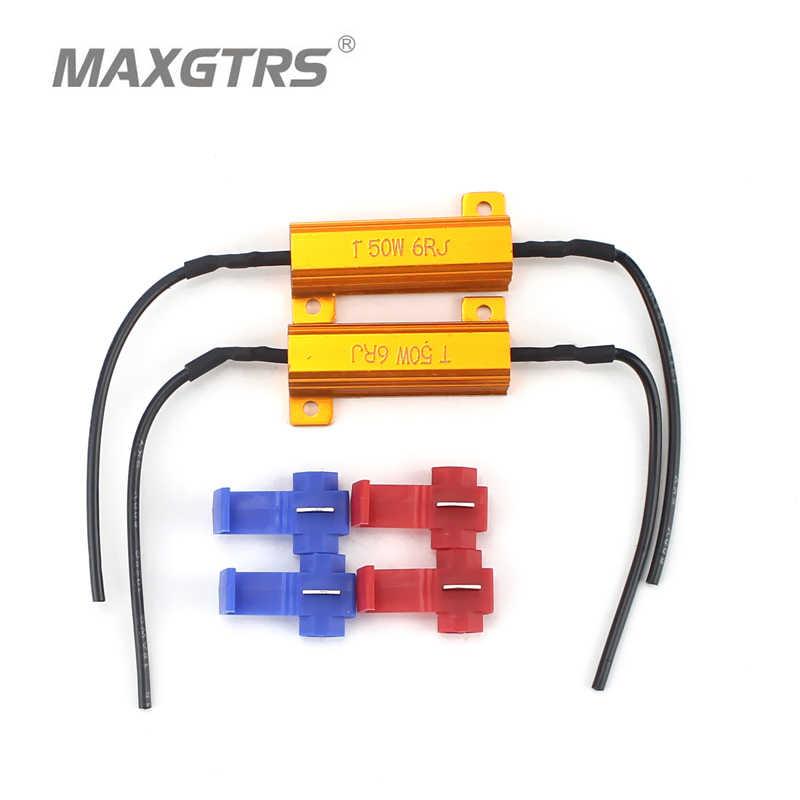 2x 50W 100W 6 8ohm Led Load Resistor H1 H3 H4 H7 H8 H11 9006 1156 1157 HeadLight DRL Fog Light Wiring Canceller Decoder