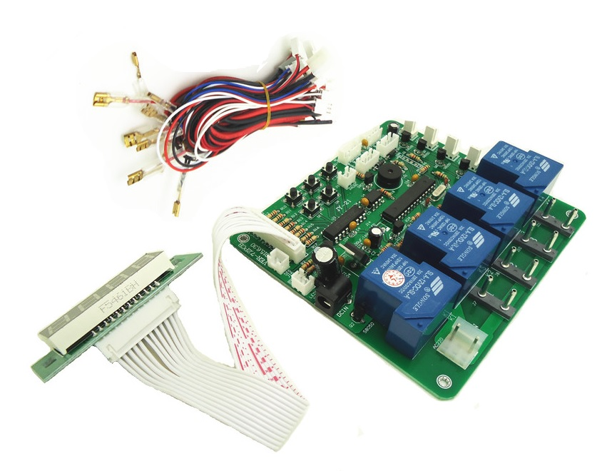JY-21 4 digits coin operated timer board for 1-4 devices time control pcb with all wires for car washing machine vending machine small condoms vending machine with coins acceptor with 5 choices