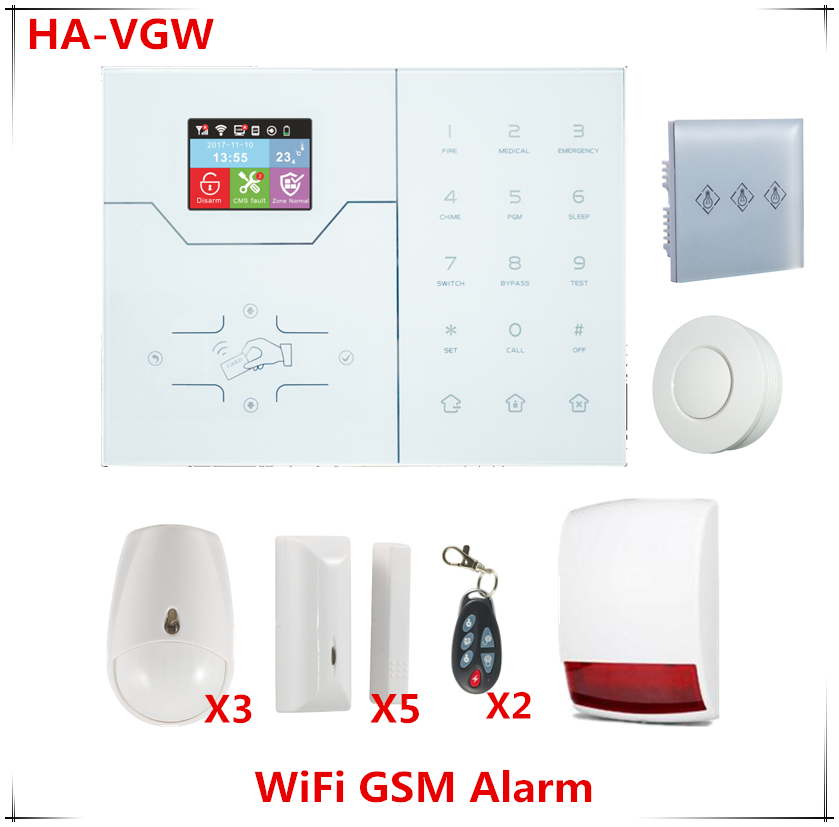 2018 New released Wifi Alarm System GSM GPRS Smart Hom Alarm System built in Temperature Sensor IP camera support