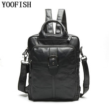 Genuine Leather Men Backpacks Man Travel Bag function bags Backpack Male women Schoolbag Fashion Casual