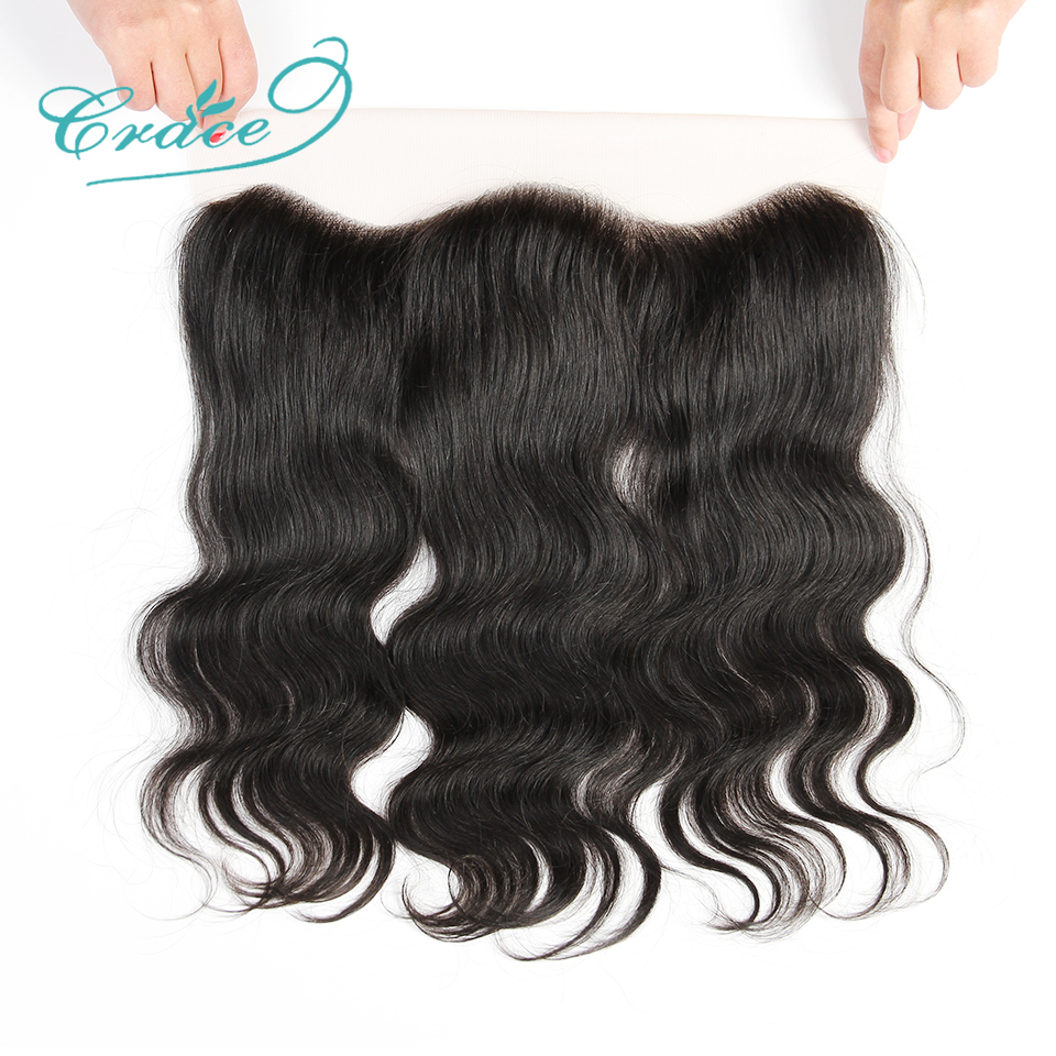 ALI GRACE Hair Brazilian Body Wave Lace Frontal 13X4 Ear To Ear Free Middle Part 100