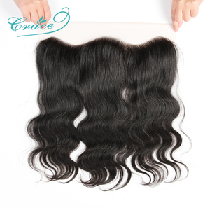 Image 1 - ALI GRACE Hair Brazilian Body Wave Lace Frontal 13X4 Ear To Ear Free Middle Part 100% Remy Human Hair Medium Brown Lace Frontal