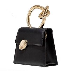 Image 5 - Casual Metalen Handvat Handtassen Vrouwen Messenger Bag 2020 Merken Kettingen Schouder Crossbody Tassen Dames Vrouwen Tas Portemonnees Bolsa Chic