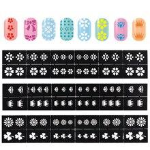 5Pcs Hollow Nail Art Plates For Stamping Nail Art