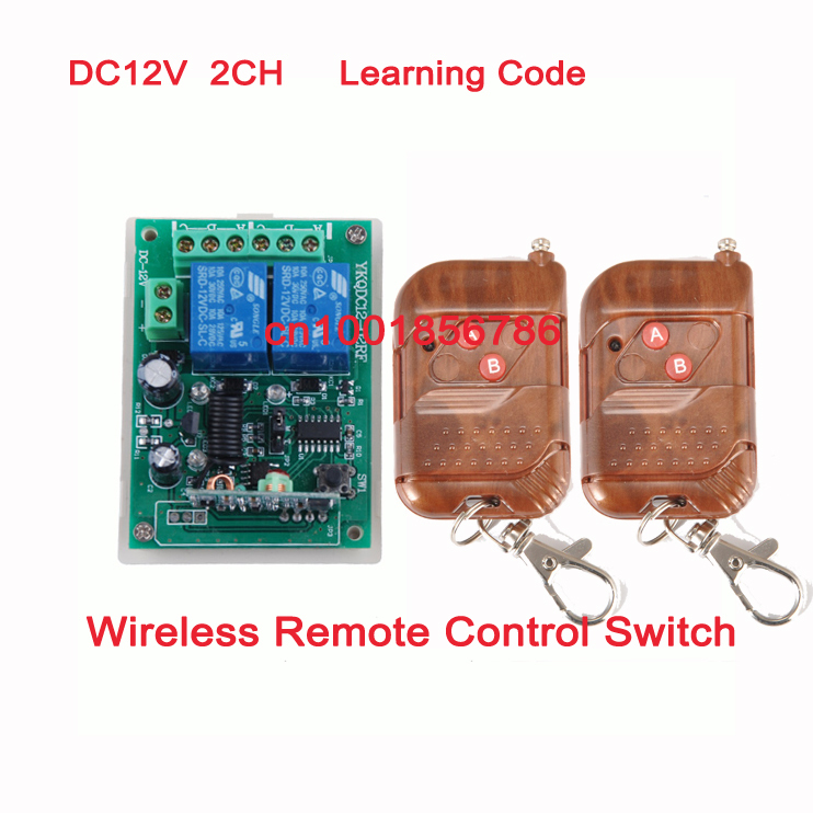 315/433MHZ 12V 2CH Transmitter Receiver RF wireless remote control switch Learning Code Momentary Toggle Latched Relay remote switch 12v dc rf wireless 4 receiver 3 transmitter lighting digital switch learning code toggle momentary 315 433 92mhz