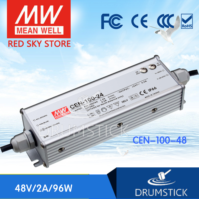 hot-selling MEAN WELL CEN-100-48 48V 2A meanwell CEN-100 48V 96W Single Output LED Power Supply hot selling 100