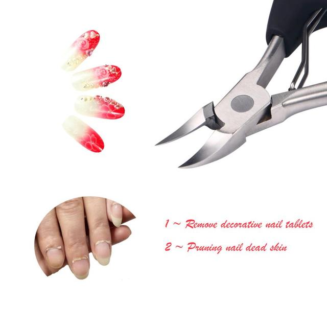 Stainless Steel Toe Ingrown Nail Nipper Clipper Cuticle Dead Skin Cut Scissors Chiropody Manicure Tool