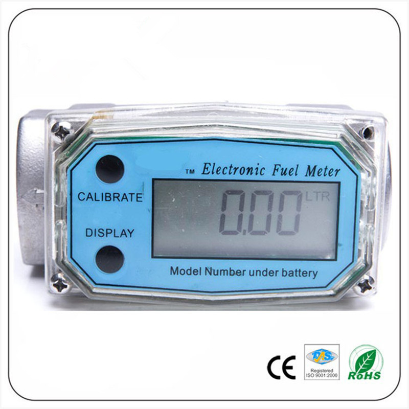 Digital Turbine Flow Meter petrol fuel gauge caudalimetro Flowmeter plomeria Pumping flow indicator sensor Counter DN25 G1.0 free shipping lamtop 180 days warranty projector lamps with housing tlp lv8 for tdp t45