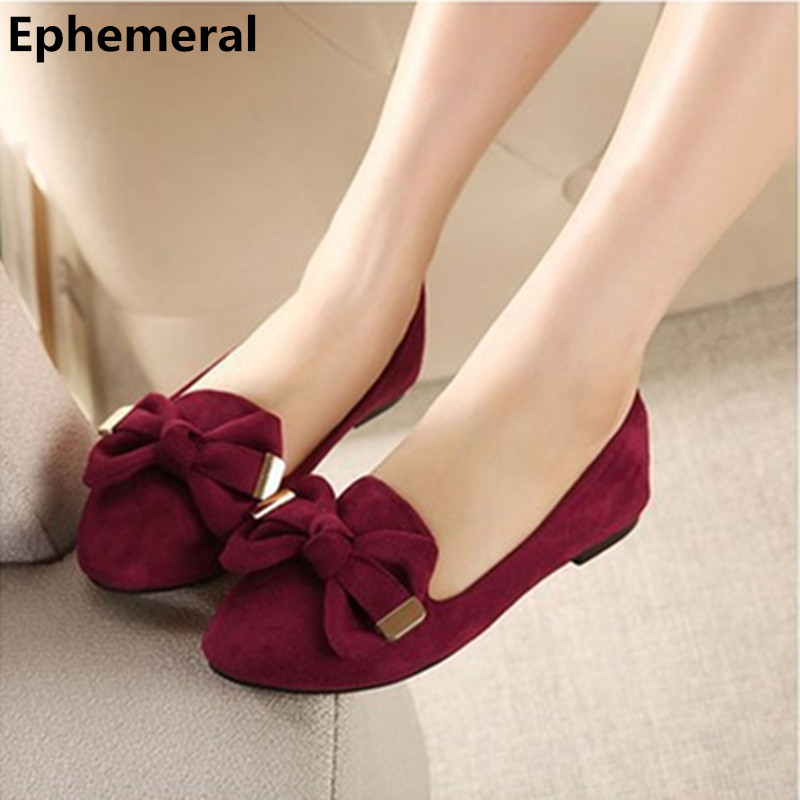 Lady's Bow-Knot glitter square heels plus size(34-44)flock pointed toe Women flattie thin Platform shoes red/blue/pink black lady glitter high fashion designer brand bow soft flock plus size 43 leisure pointed toe flats square heels single shoes slip on