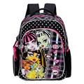 New Fashion Monster High Girls Black School Bags Kids Students Backpack Bag For Children