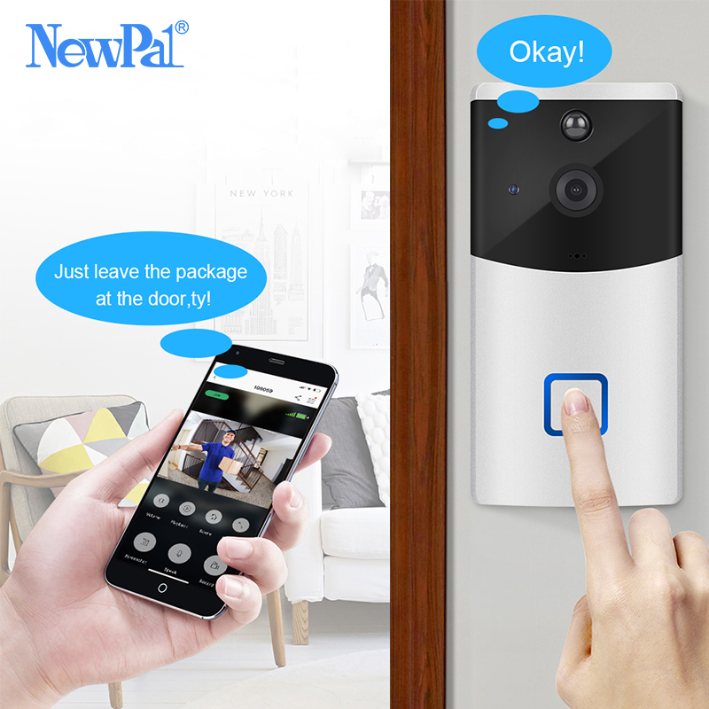 WiFi Doorbell Camera Video Intercom Wireless Door Bells Home Security Camera Smart Doorbells Ring Chime Night Vision BatteryWiFi Doorbell Camera Video Intercom Wireless Door Bells Home Security Camera Smart Doorbells Ring Chime Night Vision Battery