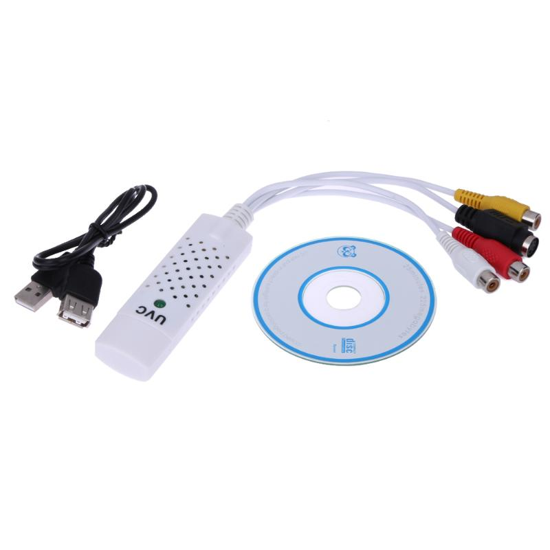 ALLOYSEED Portable del convertidor adaptador de Video Audio Easycap USB 2,0 VHS a DVD captura de vídeo Convertidor para Win7/ 8/XP