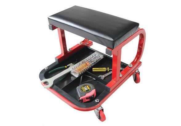 C Frame Car Repair Roller Seat Padded Mechanics Roller ...