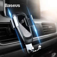 Baseus Qi Wireless Charger Car Phone Holder for iPhone Samsung Mobile Phone Holder Stand Air Vent Mount Gravity Car Phone Holder
