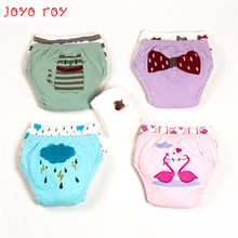 Joyo roy Baby Shorts As Diaper Cover Cotton Gauze Pants Washable Diapers Children Waterproof Urine UnderwearR