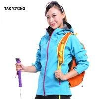 TAK YIYING Softshell Jacket Women Brand Waterproof Rain Coat Outdoor Hiking Clothing Female Windproof Soft Shell