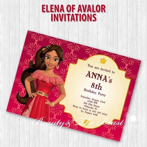 Elena de avalor convite de festa, elena de avalor convida decorações de festa de aniversário crianças, fontes de festa, barra de cany, chá de fraldas