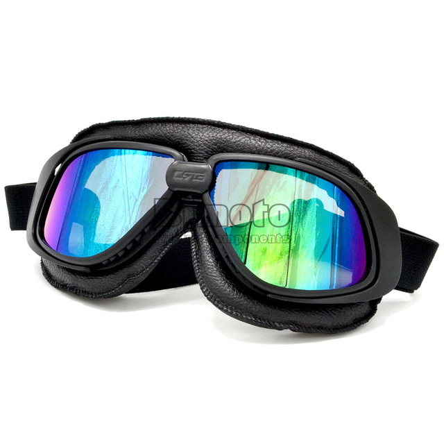 BJMOTO NEW 2018 JET Helmet Goggles Motorcycle Goggle Vintage Pilot Biker Leather Eyewear Skiing Glasses