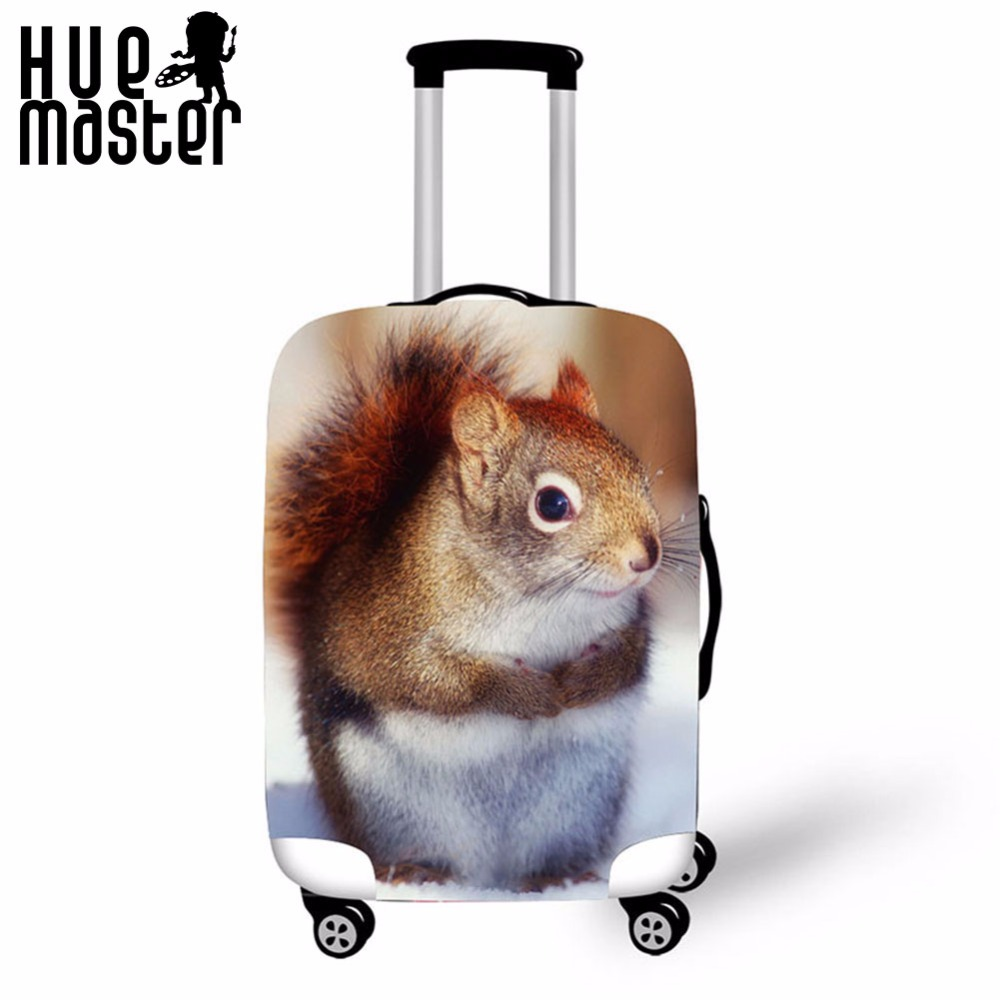 Suitcase Protective Covers Travel Accessories Luggage Case Cover Squirrel Animal Print For 18-30 Inch Suitcases Covers