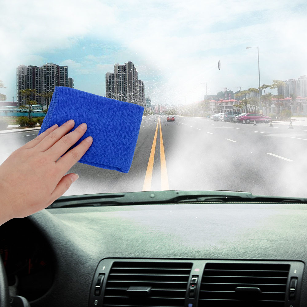 FORAUTO Automobile Anti-fog Towel Quick Defogging Cloth Car Clean Towel Glass Antifogging Towel 24 Hours Non-fogging 26*26cm
