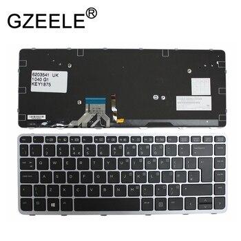 GZEELE New UK Layout Keyboard For HP Elitebook Folio 1040 G1 1040 G2