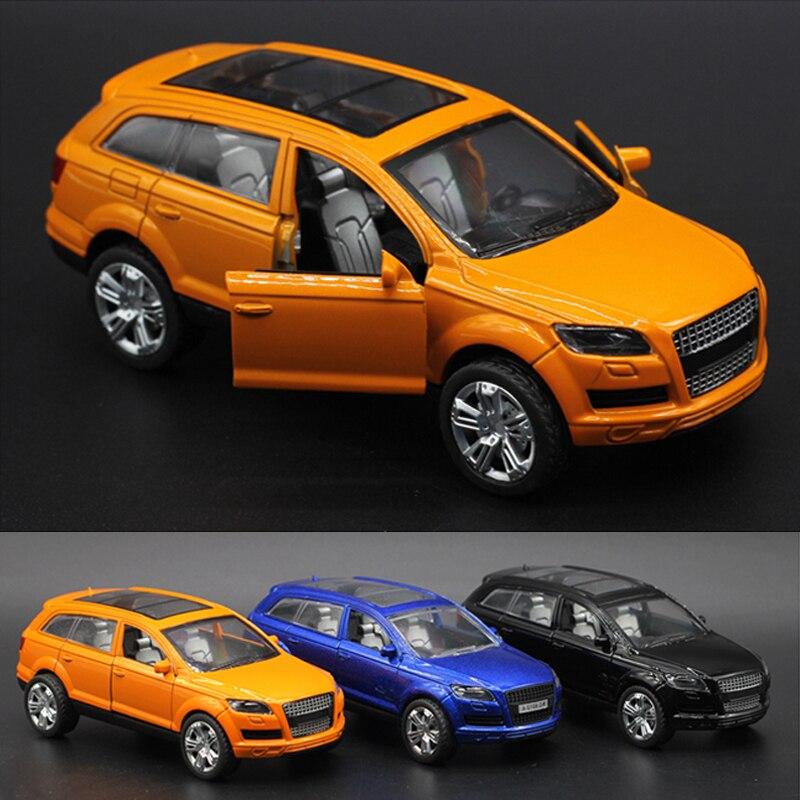 1:36 Audi Q7 Diecasts Alaşım Araba Modeli Çocuk Oyuncak Araba Sıcak tekerlekler Arabalar Çocuk Oyuncakları Makineleri Oyuncaklar Boys için Q7ORA