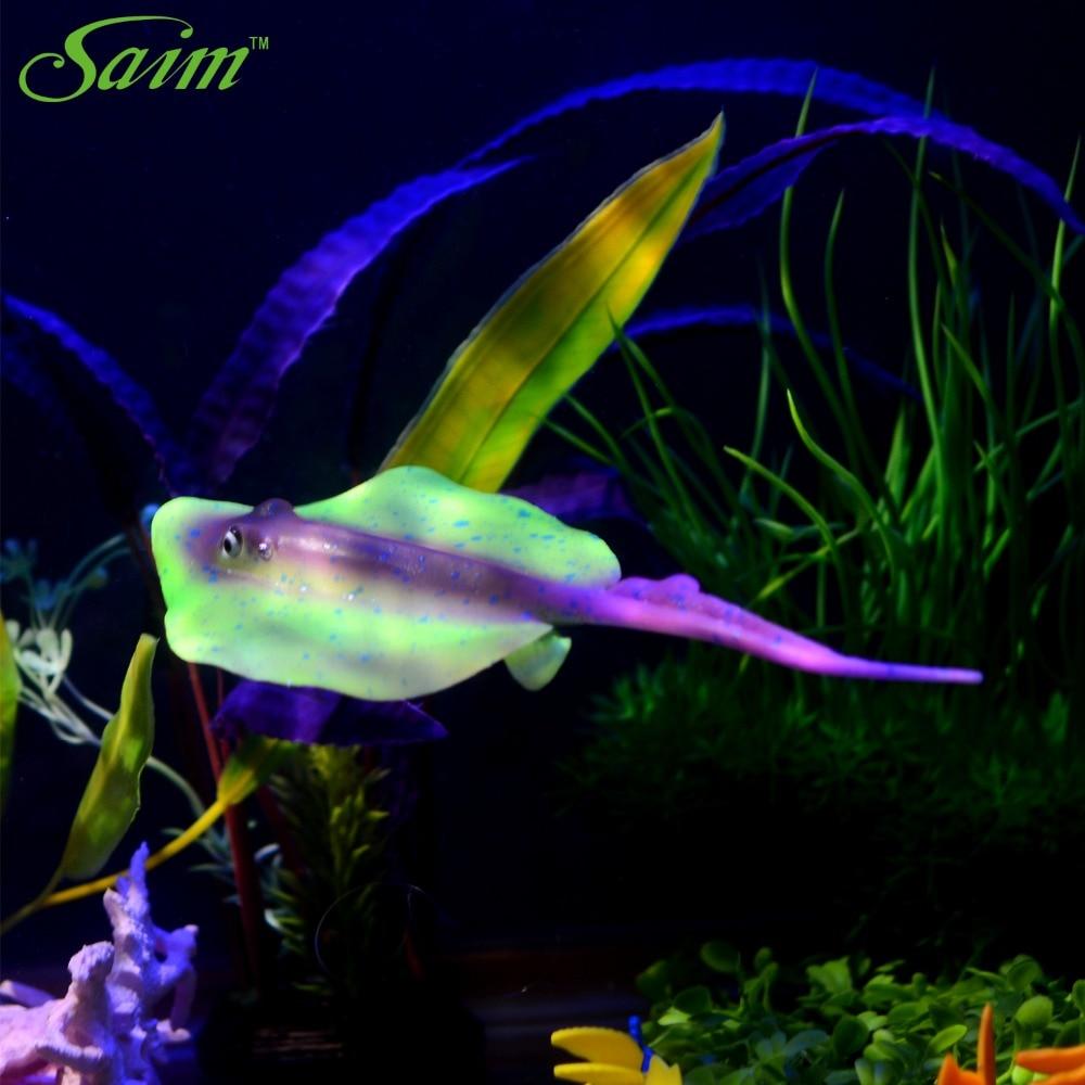Flat Colorful Artificial Fake Fish Aquarium Fish Tank Home Decor ...