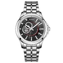 BUREI Reloj Mecánico Hombres de Acero Inoxidable de Negocios Reloj Impermeable de Zafiro de Moda De Lujo Hombre Reloj Horas Orologio Uomo