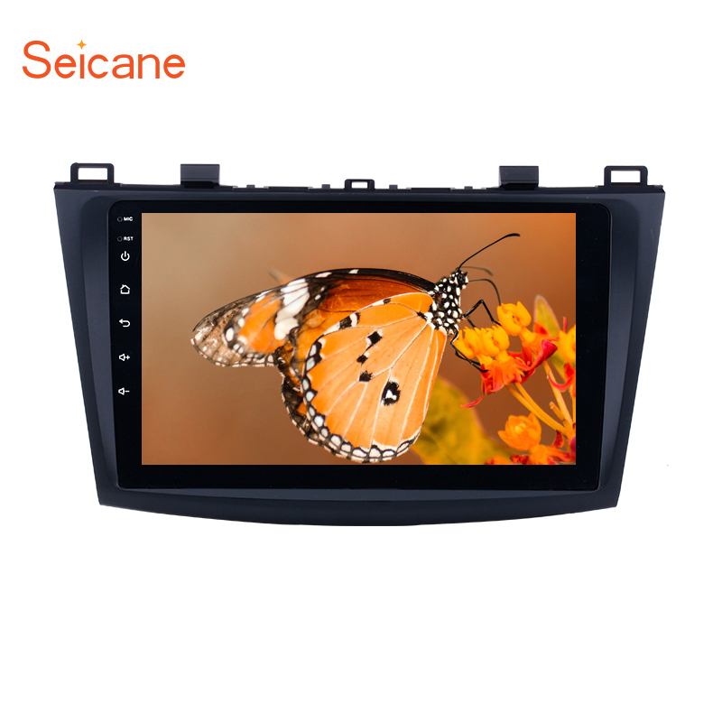 Seicane 2Din Android 8.1 Car Stereo <font><b>Radio</b></font> GPS WIFI Multimedia Unit Player For 2009 <font><b>2010</b></font> 2011 2012 <font><b>MAZDA</b></font> <font><b>3</b></font> 9