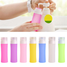 Portable Cosmetic Refillable Silicone Bottle Traveler Lotion Bath Shampoo Containers