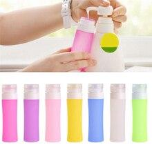 Portatile Cosmetico Riutilizzabile della Bottiglia Del Silicone Contenitori Lozione Per Il Bagno Shampoo Viaggiatore