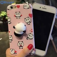 10pcs Lot Wholesale 3D Cute Pappy Squishy Cat TPU Case For Iphone 6 Case Silicon Panda