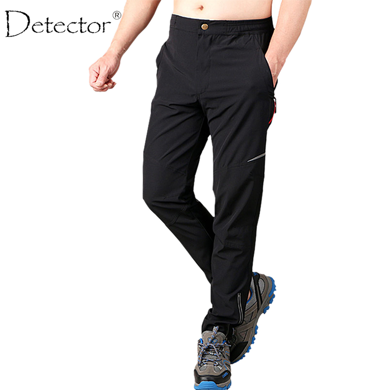 Detector Men's Hiking Pants Outdoor Cycling Running Camping Hiking Pants Slim Fit Windproof Warm High Quality Sport Trousers outdoor sport pants stitching breathable quick drying pants cycling hiking camping fishing running jogging luminous sports pants