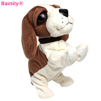 Bainily 1pc Cute Sound Control Electronic Dogs Interactive Pets Robot Dog Bark Stand Walk Electronic