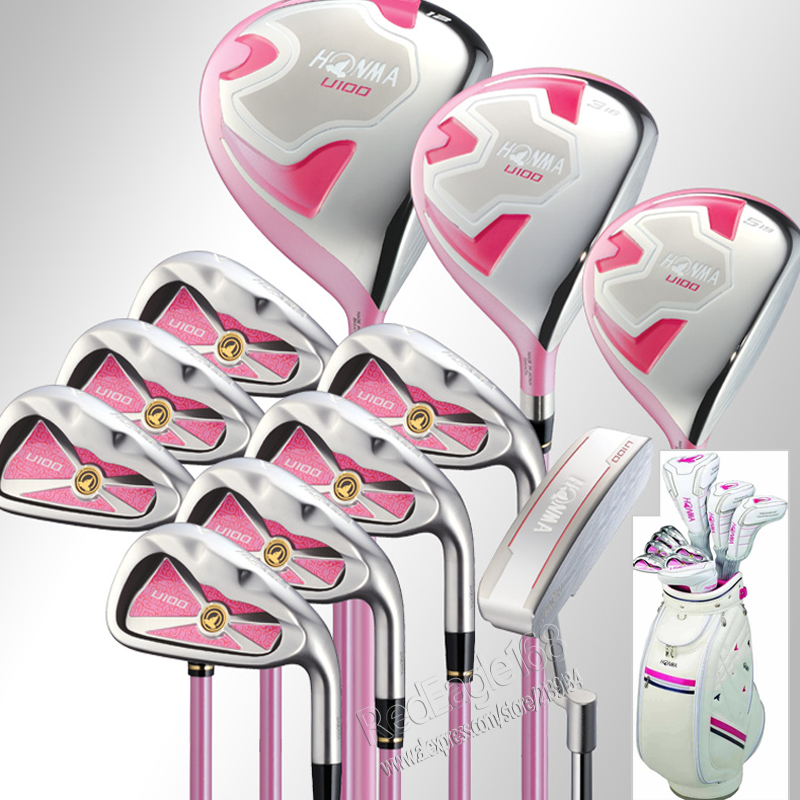 U100 cooyute nuevas mujeres honma golf clubs conjunto compelete 3wood + plancha