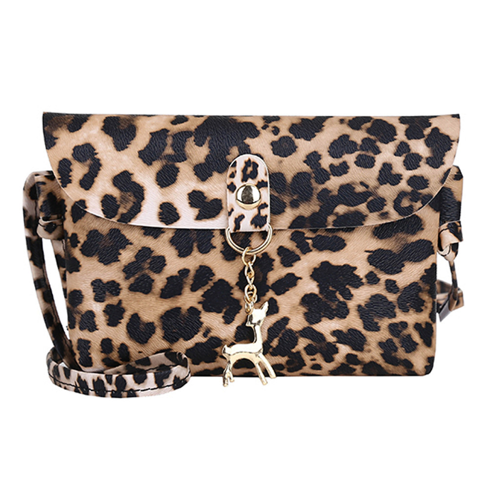 Wallet Coin-Purse Shoulder-Bags Womens Crossbody-Bag Leopard-Print Long Maison Fabre