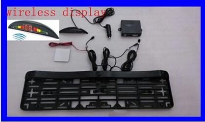 Automobiles Plaque D'immatriculation arrière de stationnement capteur sur Plaque D'immatriculation Support d'affichage à led sans fil 2 capteur de stationnement automatique Extérieur