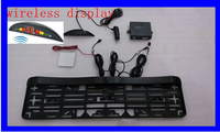 Automobiles License Plate Parking Rear Sensor On Registration Plate Holder Led Display Wireless 2 Sensor Parking