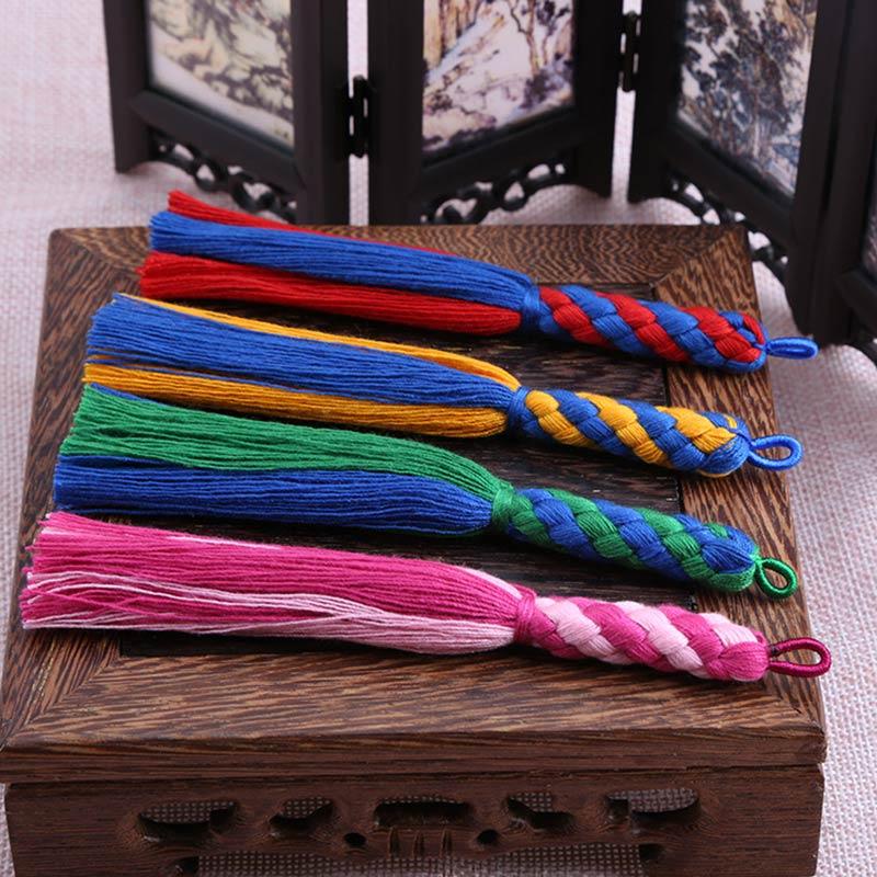12pcs/lot New pattern tassel silk fringe bangs flower tassel trim decorative tassels for curtains home decoration accessories