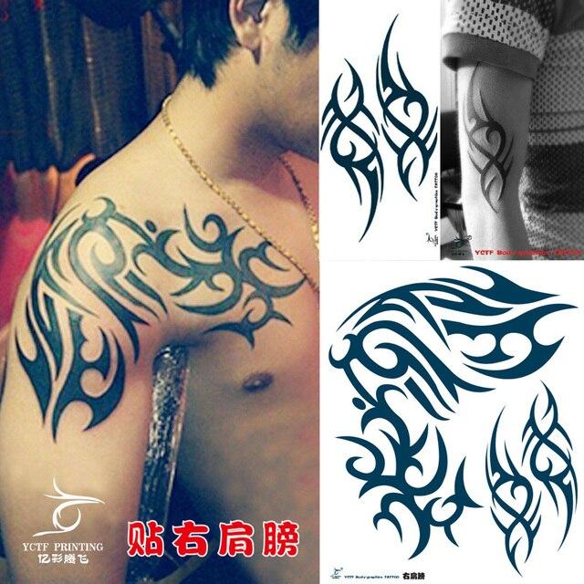 654 Tatuajes Temporales Dragón Verde Oscuro Creativo Brazo Falso Tatuaje De Transferencia Pegatinas Hot Sexy Hombres Mujeres Rocían Diseños A