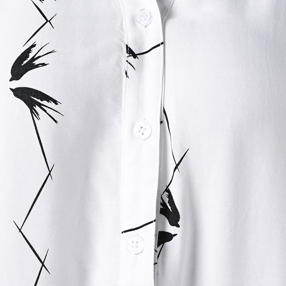 Blusas Señoras Tops Black Gráfico Botones Camisas White Plus Nuevos 2019 De Mangas Azulina And Mujer Camiseta Mujeres Sin Tamaño Las Blusa OAZxpR