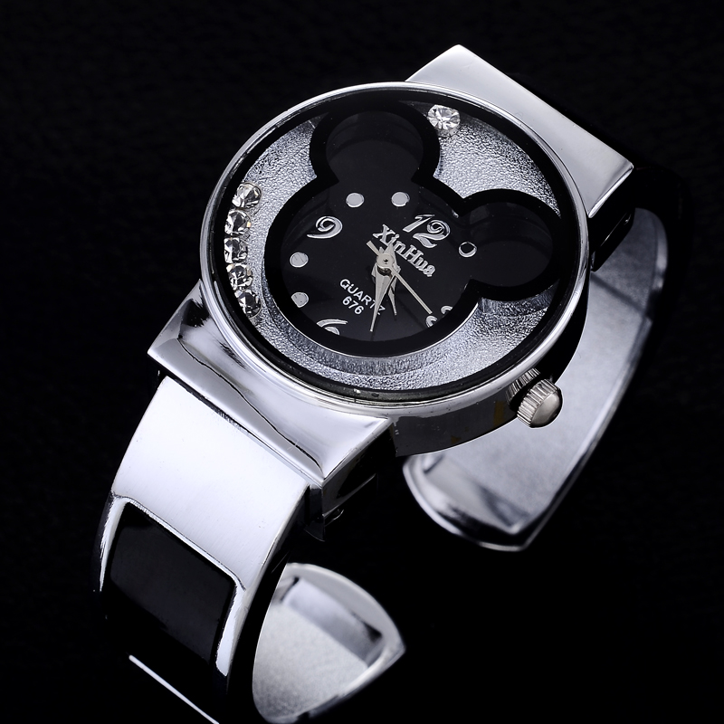 Kids Watches Cartoon New Fashion Bangle Womens Watches Brand Stainless Steel Lady Clock Womans Watch Ladies saat relojes mujerKids Watches Cartoon New Fashion Bangle Womens Watches Brand Stainless Steel Lady Clock Womans Watch Ladies saat relojes mujer