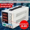 LONG WEI PS-3010DF 110В/220В DC источник питания 30В 10А прецизионный переменный светодиодный цифровой лабораторный Регулируемый с USB